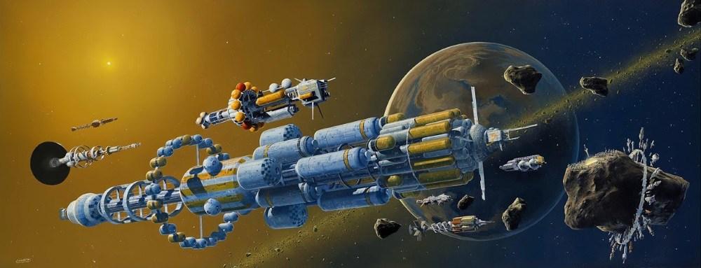 Vaisseaux spatiaux sur fond intersidéral